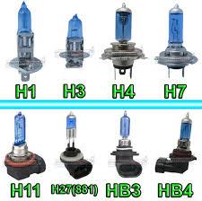 Lâmpadas h1, H3, H4,H7, e outras mais raras.
